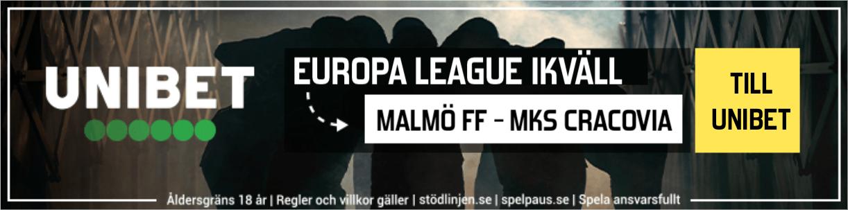 Malmö FF MKS Cracovia live streaming gratis