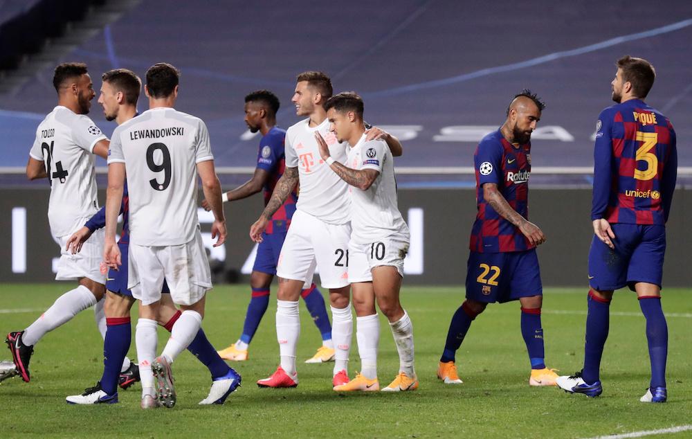 Största förlusterna i Champions League - kvartsfinal