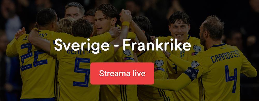 Sverige Frankrike TV kanal: vilken kanal visar Sverige Frankrike på TV?