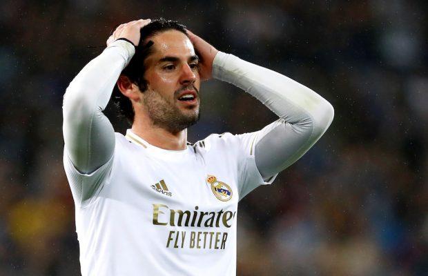 Isco meddelar att han vill lämna Real Madrid i vinter