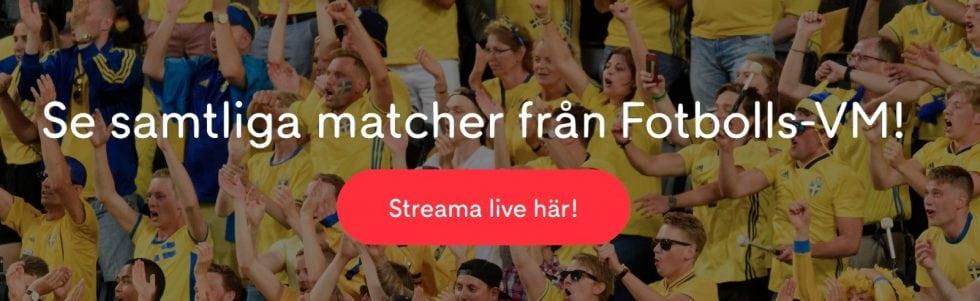 VM live stream gratis? Streama fotbolls VM - live streaming fotboll gratis!